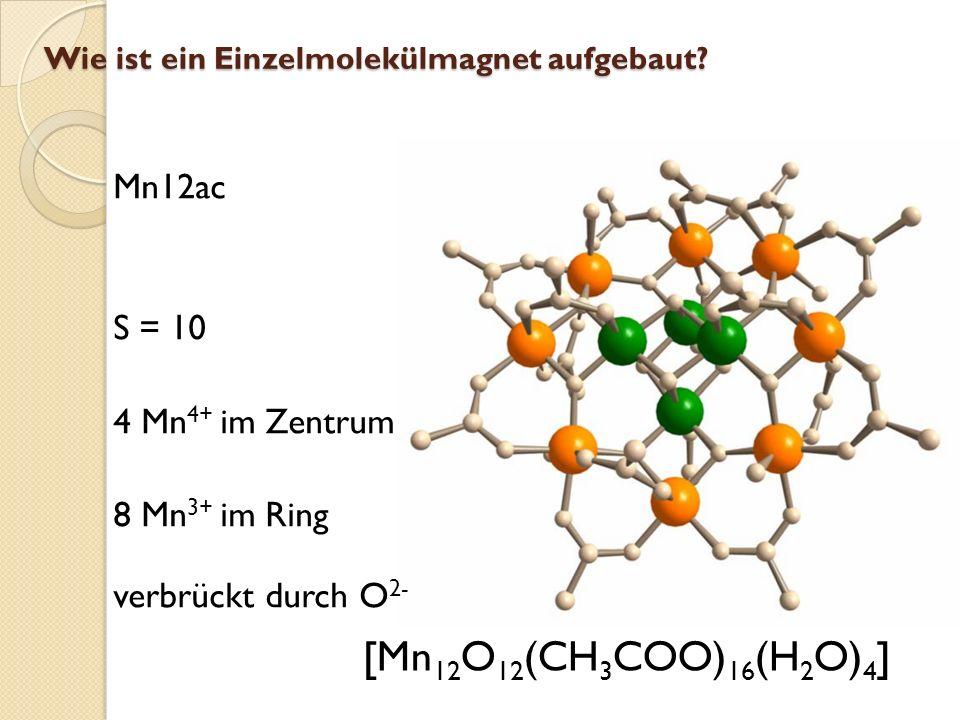 [Mn12O12(CH3COO)16(H2O)4] Mn12ac S = 10 4 Mn4+ im Zentrum